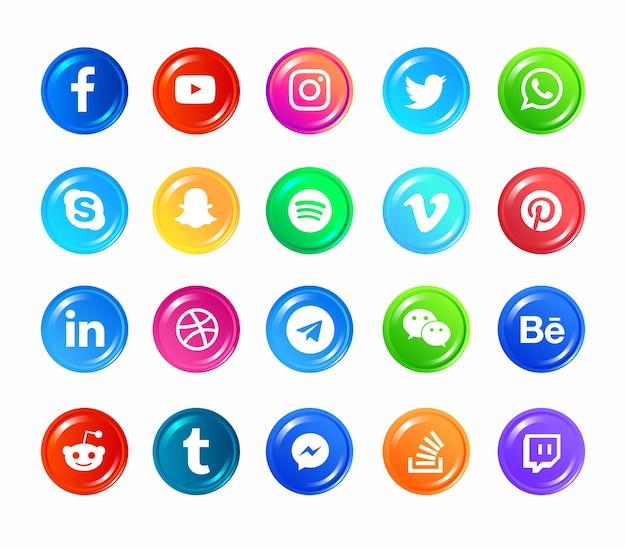 소셜 미디어 아이콘