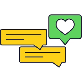 Social media inbound campaign vector flat icon