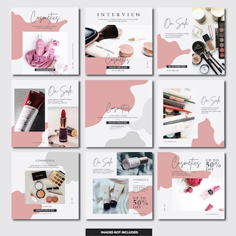 Social media instagram banner (cosmetics)