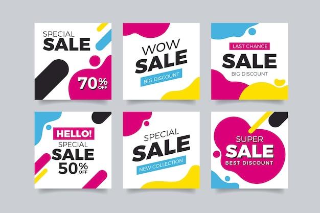 소셜 미디어 인스 타 그램 다채로운 판매