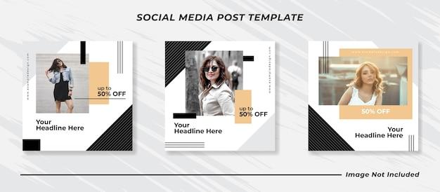 소셜 미디어 instagram 피드 게시물 및 이야기 패션 판매 배너 템플릿