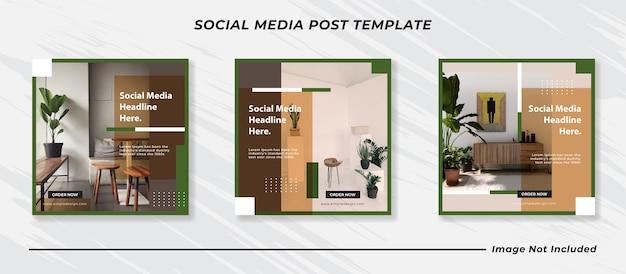 Набор баннеров для публикации в социальных сетях instagram