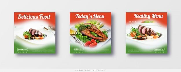 소셜 미디어 인스 타 그램 음식 판매 및 배너 템플릿