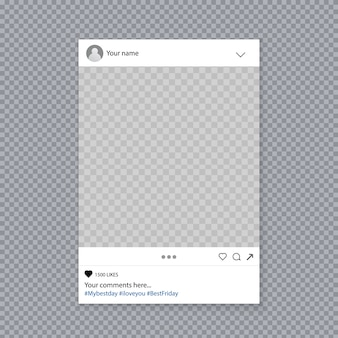 Social media instagram photo frame