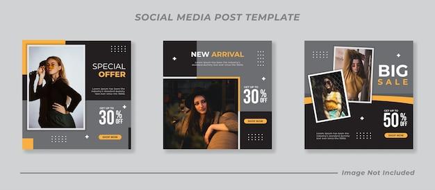 Social media instagram post templates set