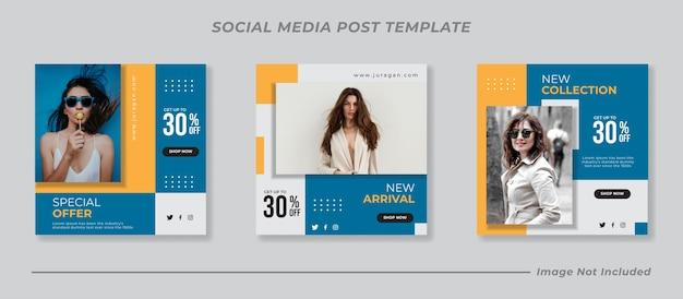 Набор шаблонов сообщений instagram в социальных сетях