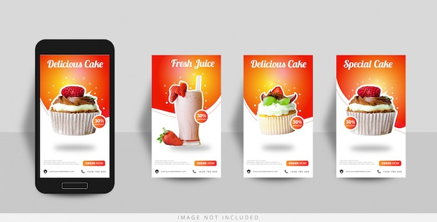 Social media instagram story food sale template