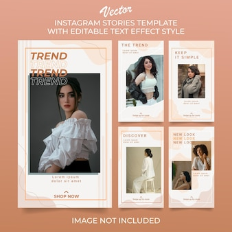Social media instagram story post template collection