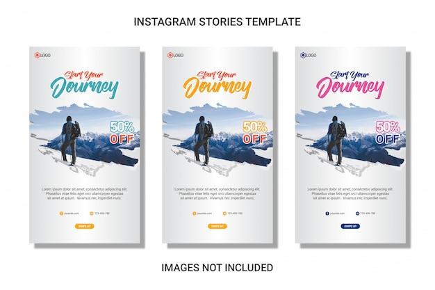 Social media instagram story travel template