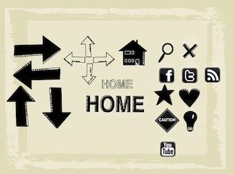 Social media interface navigation vectors
