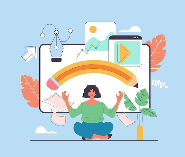 Social media internet design art project development