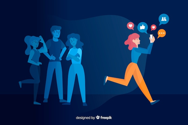 Social media is killing friendship concept