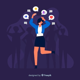 Social media killing friendship concept