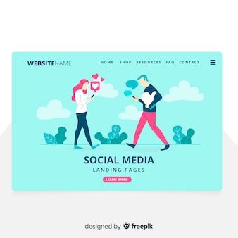 Social media landing page