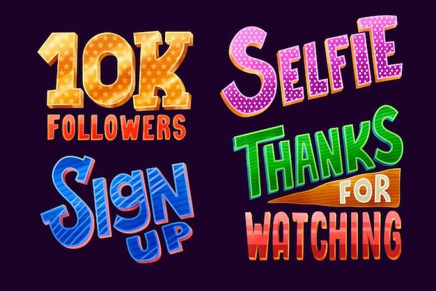 Lettering sui social media