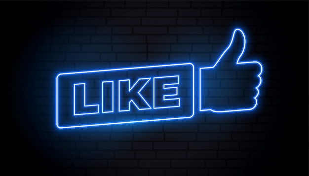 Social media like sign in neon style