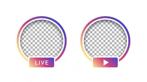 Social media live streaming avatar template