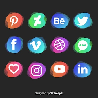 Social media logo collectio