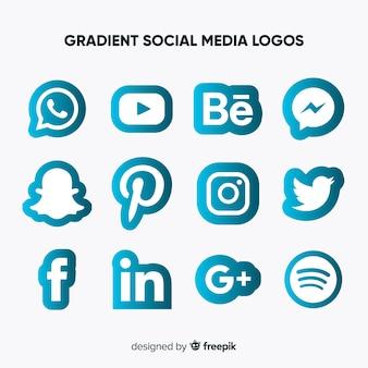 소셜 미디어 로고 컬렉션