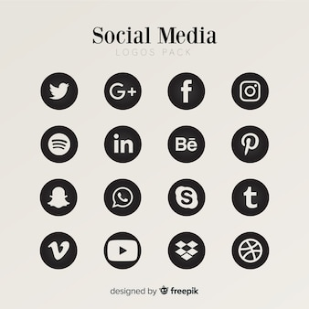 Social media logo collection