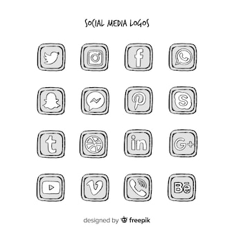 Social media logo collection