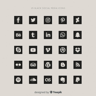 Social media logotype collection