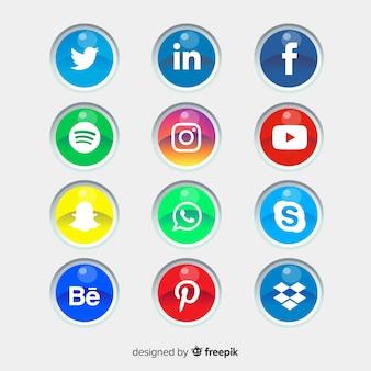 Social media logotype collection