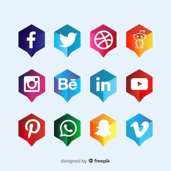 소셜 미디어 로고 타입 컬렉션