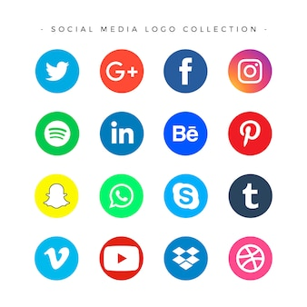 Social media logotype set