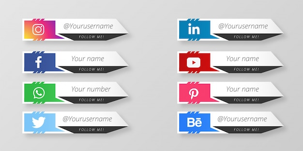 Social media lower thirds collection template