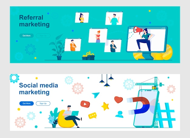 Набор целевой страницы для маркетинга в социальных сетях