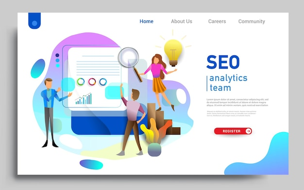 Social media marketing landing page template