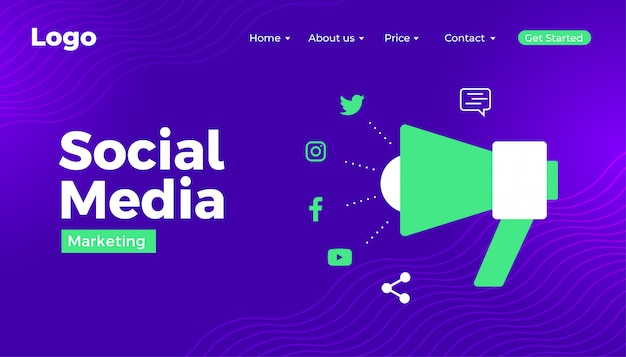 Social media marketing web banner design