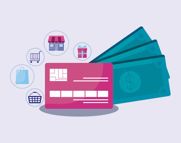 Social media marketing with credit card