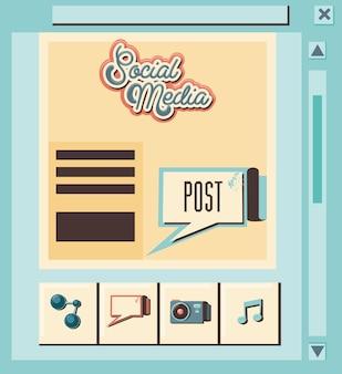 Social media marketing with speech bubble