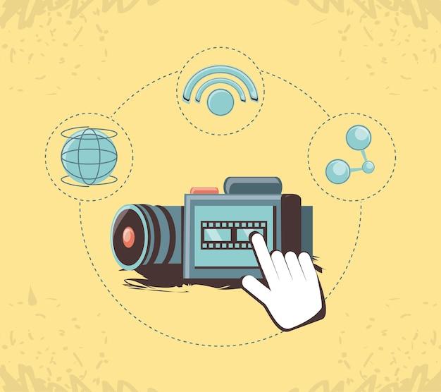 Social media marketing with video camera