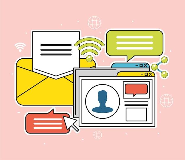 Social media message content internet digital