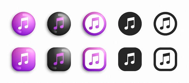 Social media modern 3d and flat icons set
