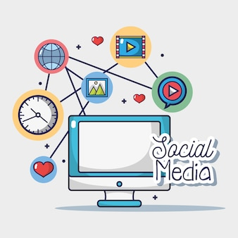 Social media netword connection element
