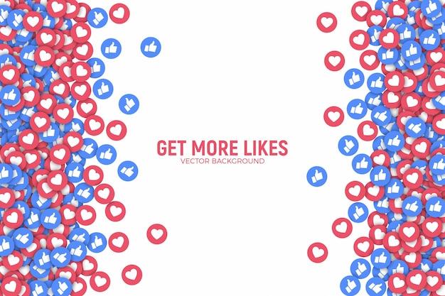소셜 미디어 네트워크 facebook 및 instagram like 아이콘.