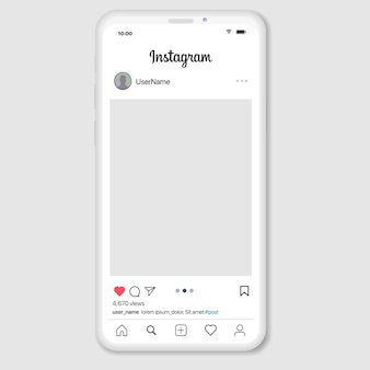 Social media network inspired by instagram. mobile app with photos and story tile template. user profile, news, notifications and post.