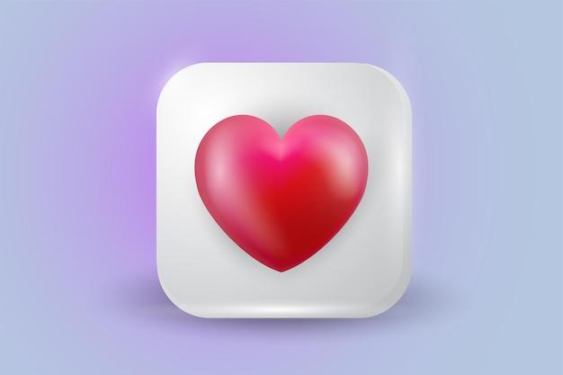 Social media network love like heart icon illustration