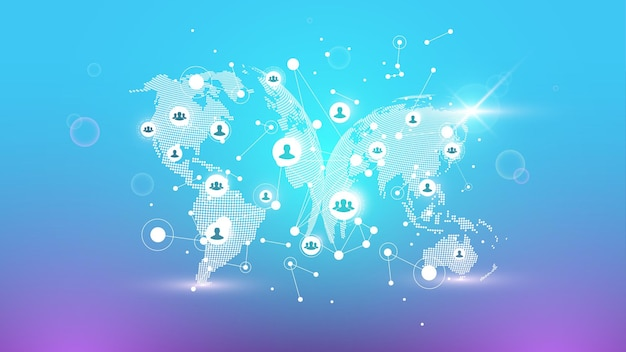 Social media network and marketing concept