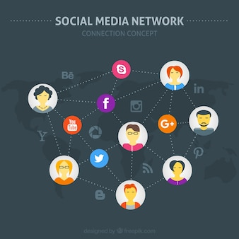 Social media network with avatars