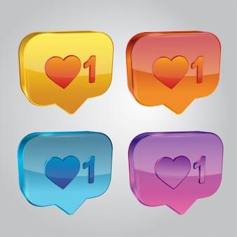 Social media notification icon. follower notification symbol.