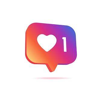 소셜 미디어 알림 아이콘