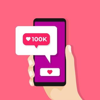 Social media notification icon