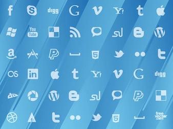 Social media pattern Vector Gallery