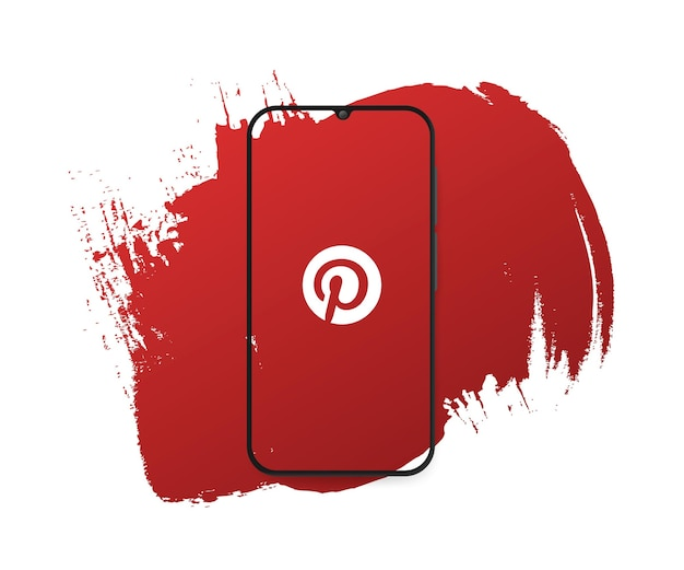 Social media pinterest splash