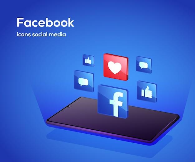 ソーシャルメディアプラットフォームのイラスト